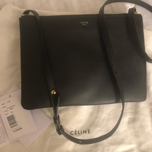 47aa726c52b9 Celine Handbags - Authentic Celine large Trio crossbody bag